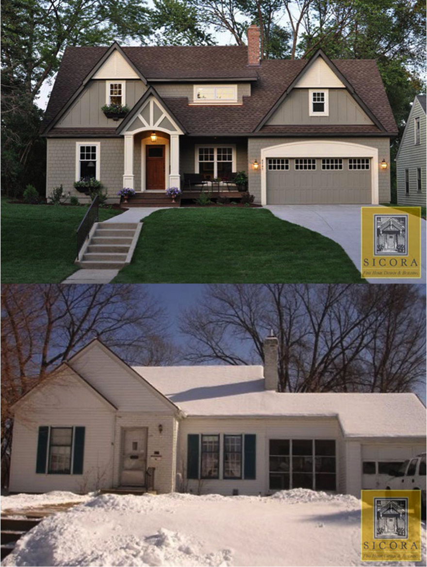 Before and after cottage makeover homespree for Before and after exterior home makeovers