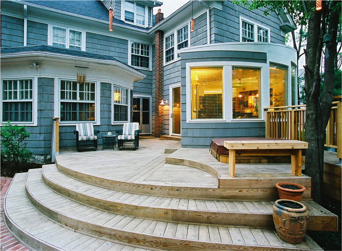 10 beautiful decks homespree for Patio plans and designs