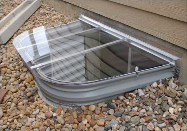 install window well covers on any below grade windows