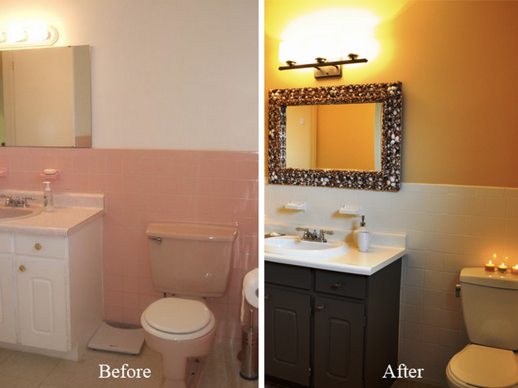 Can you paint tile homespree for Painting bathroom tile before and after