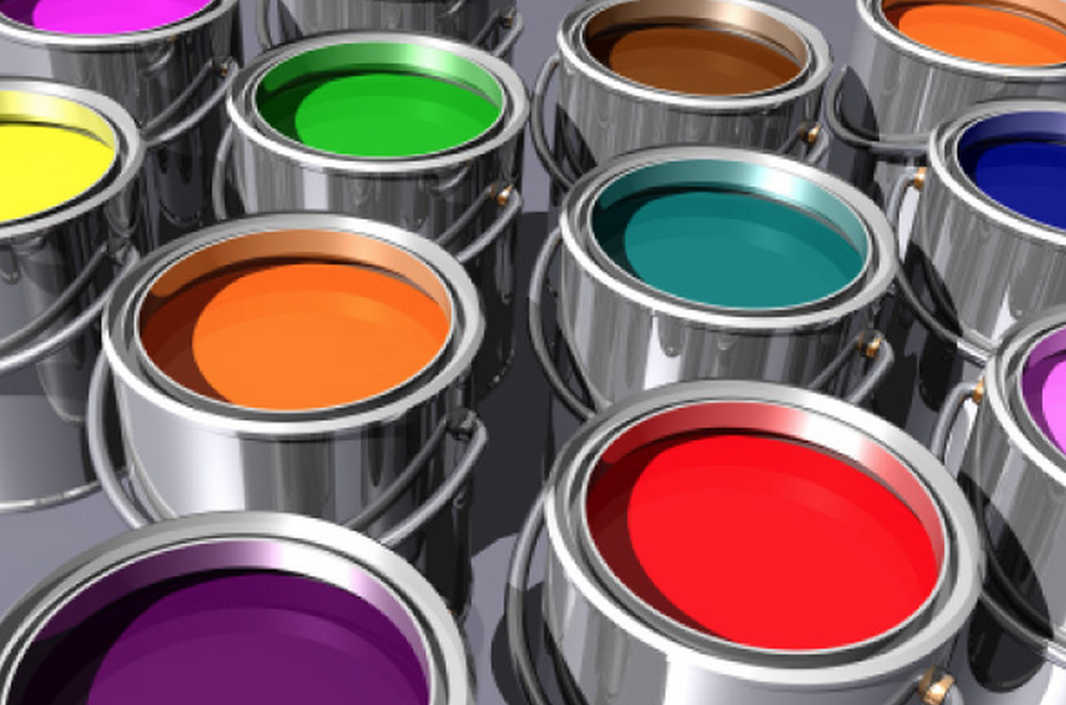Images Of Colors On A Paint Buckets